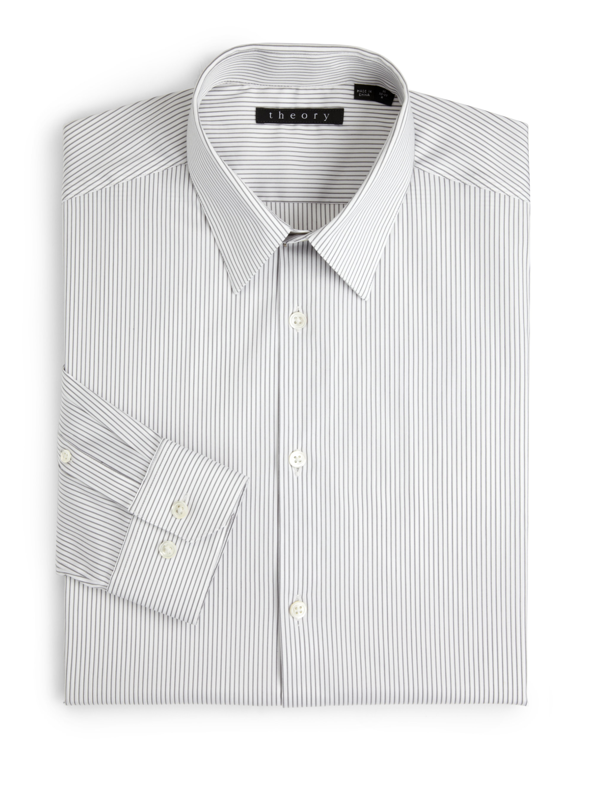 Fabulous Lyst - Theory Dover Luxe Pinstripe Dress Shirt in Gray for Men PP65