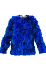 Versus  Patchwork Fur Jacket - Lyst