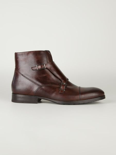 Bruno Magli Double Buckle Shoe in Brown for Men