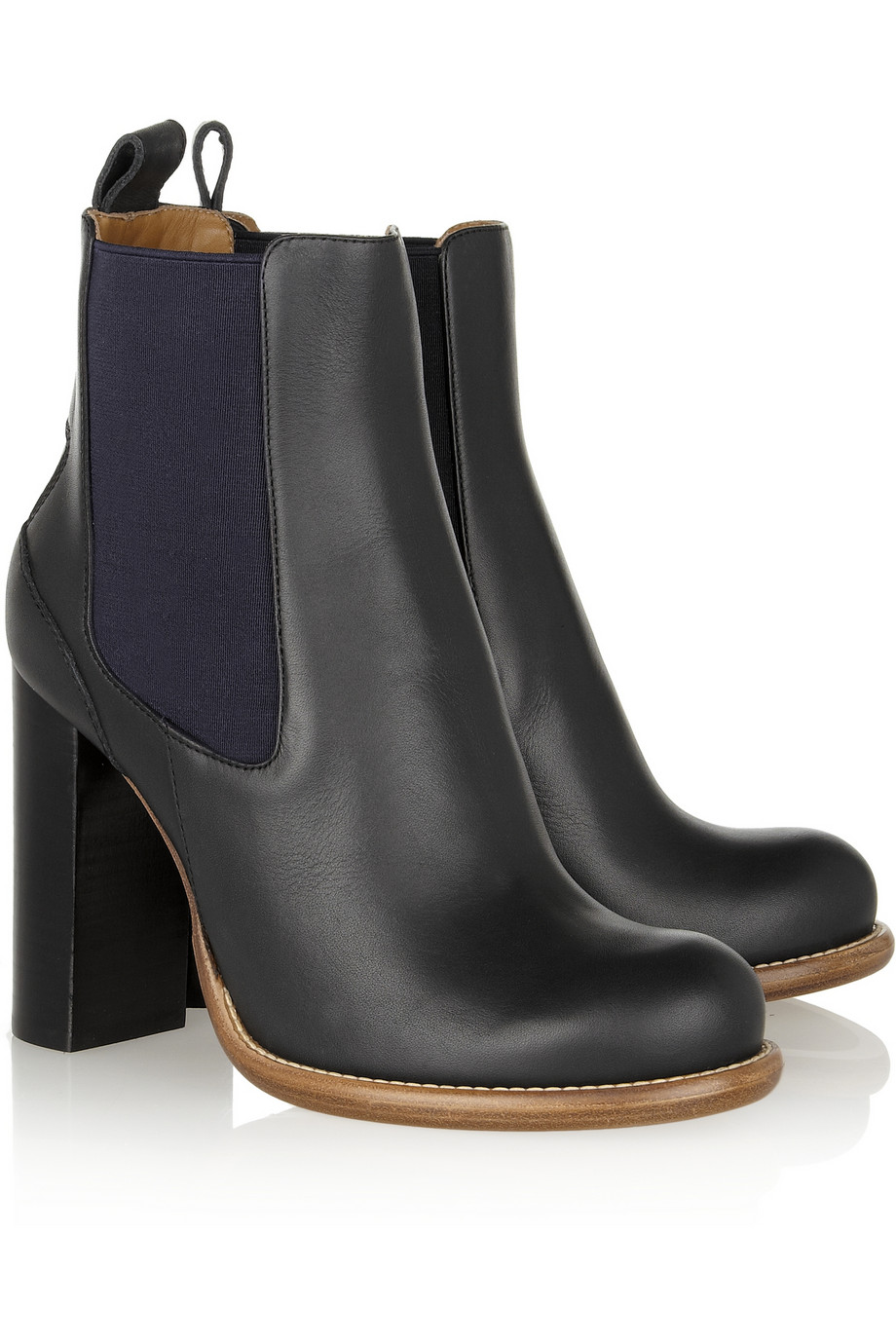 Chloé Leather Chelsea Boots in Blue | Lyst
