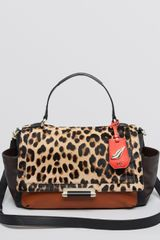 Diane Von Furstenberg Satchel Highline Courier Leo Calf Hair - Lyst
