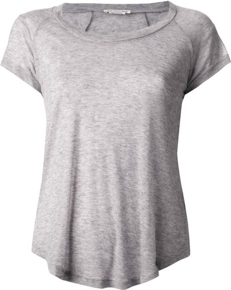Etoile Isabel Marant Tee Almon Tshirt in Gray (grey) - Lyst