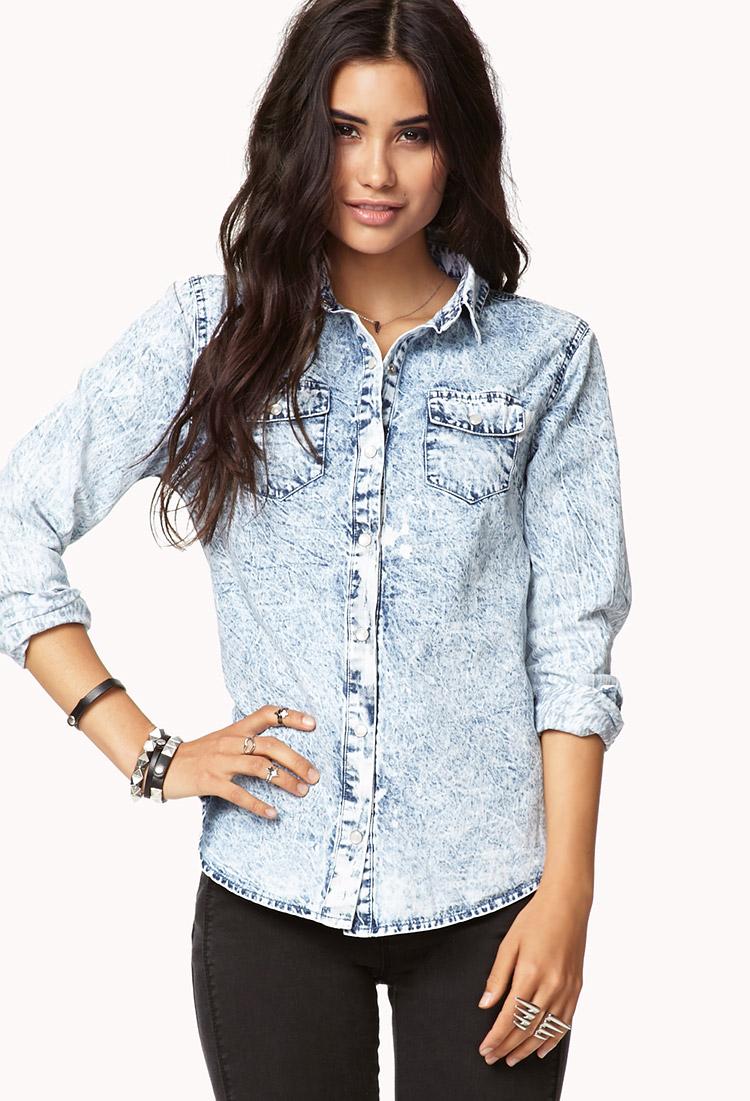 denim shirt for womens forever 21