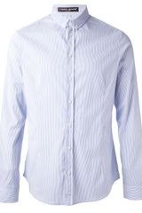 Frankie Morello Striped Shirt - Lyst