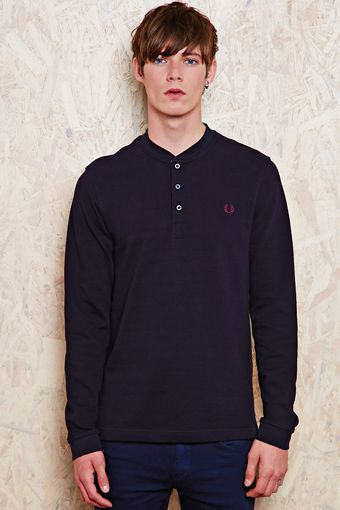 Fred Perry Long Sleeve Shirt - Lyst