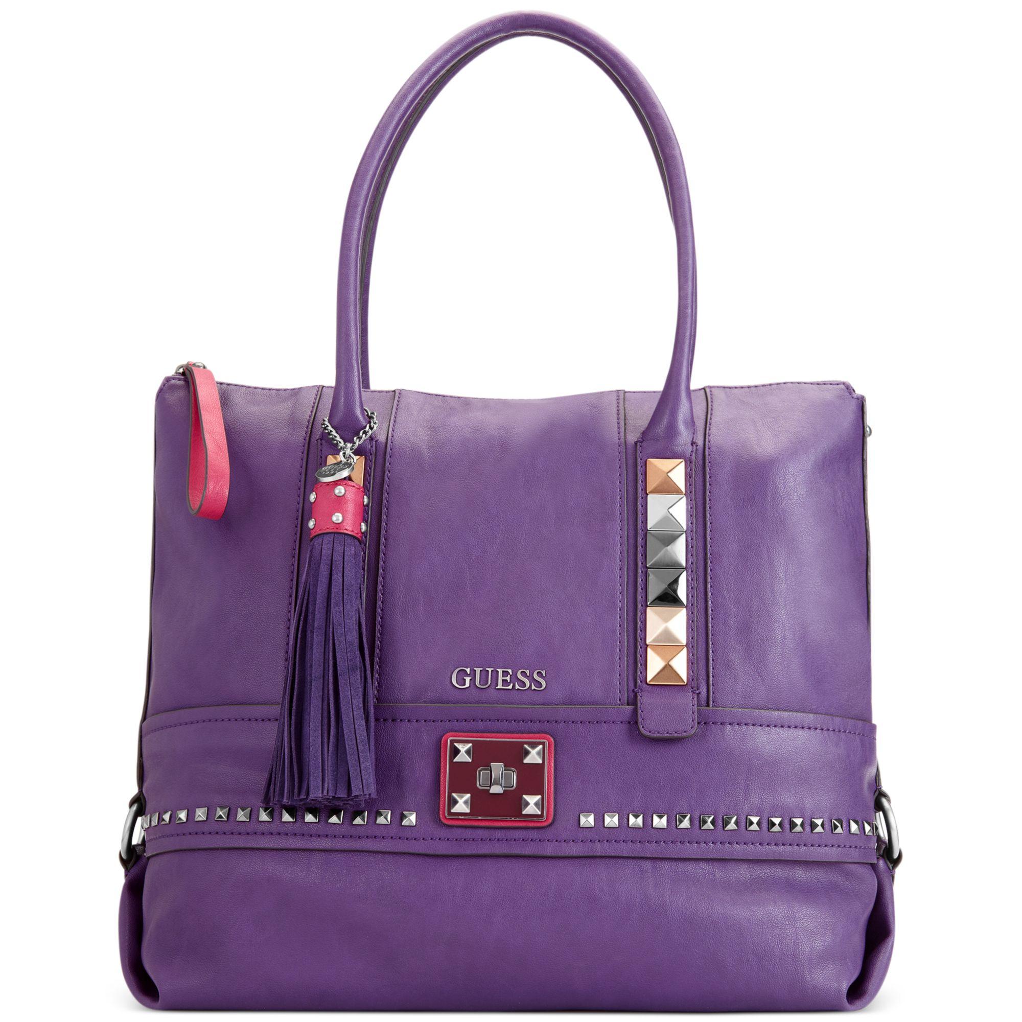 Handbag In Purple Lyst Large Guess Tote Camryn 0n4Znwq5XW