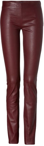 Jitrois Stretch Leather Leggings in Ruby - Lyst