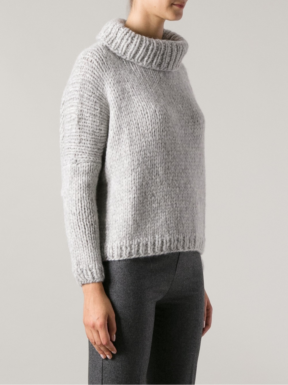 Lyst - Jo no fui Chunky Knit Sweater in Gray