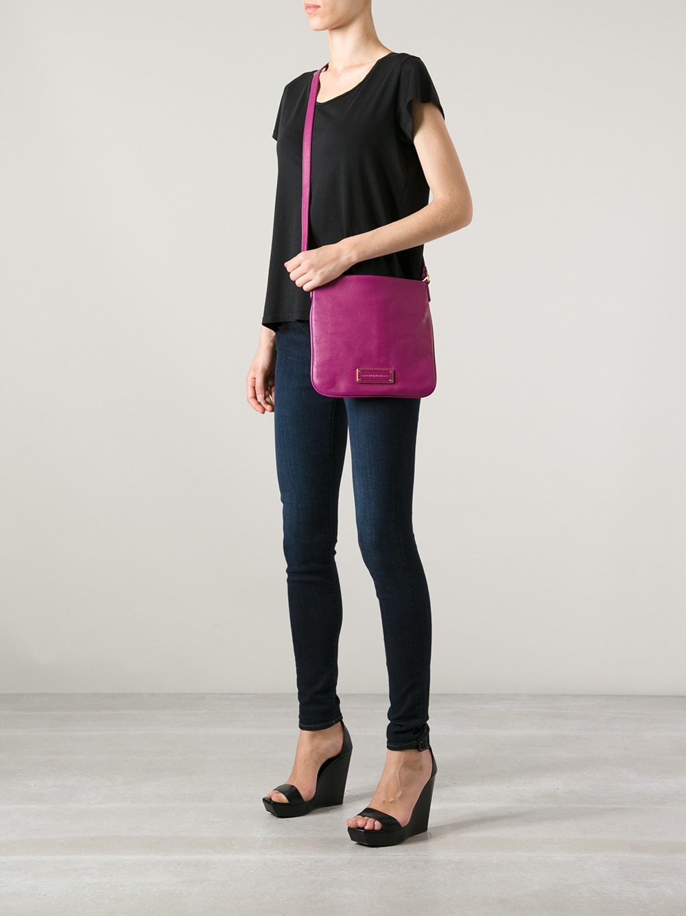 ab1f5cfcea486 Lyst - Marc By Marc Jacobs Sia Cross Body Bag in Purple