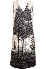 Marni Tree Printed Cotton-silk Dress - Lyst