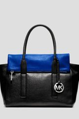 Michael by Michael Kors Satchel Tippi Large Colorblock - Lyst