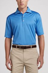 Peter Millar Lisleknit Cotton Polo Blue - Lyst