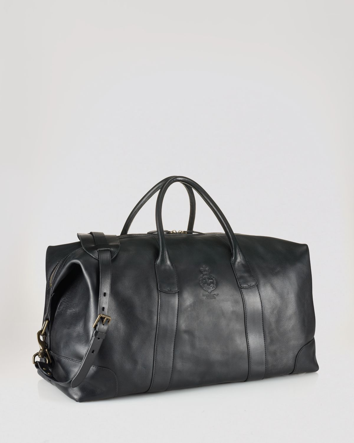 fb16bba2929 Lyst - Ralph Lauren Polo Leather Duffel Bag in Black for Men