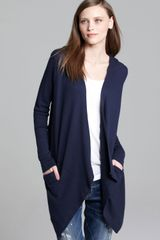 Splendid Cardigan Hooded Drapey Thermal - Lyst