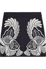 Stella McCartney Embroidered Wool and Cashmere Blend Mini Skirt - Lyst