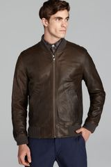 Steven Alan Bedford Leather Bomber Jacket - Lyst