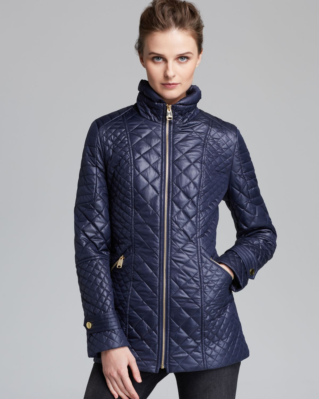 Lyst - Via spiga Coat Quilted in Blue : via spiga quilted coat - Adamdwight.com