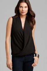 Vince Camuto Sleeveless Wrap Top - Lyst