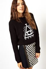 Asos Asos Jumper with Eye Motif - Lyst