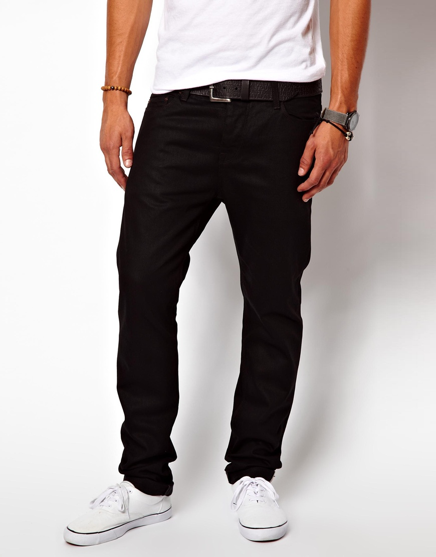 Black Slim-Fit Pants - Men. Bolster his wardrobe for the office and special occasions with the modern tailored fit and versatile hue of these dress pants. Slim fit 65% polyester / 35% rayon Machine wash Imported. New & Now. 6 Hi-Tech Bottles to Bring to the Gym.