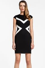Cynthia Steffe Elizabetta Ponte Knit Sheath Dress - Lyst
