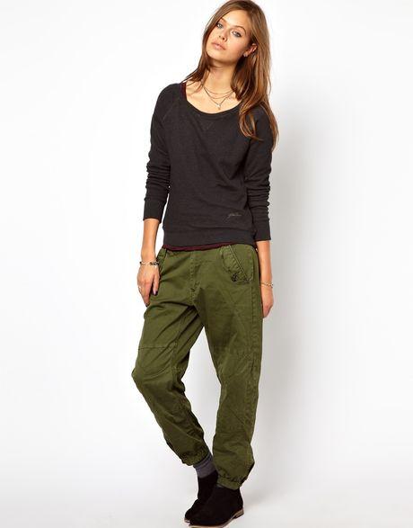 Luxury Green Khaki Capri Pants Womens Vintage Size 12 Hippie Clothing Leg