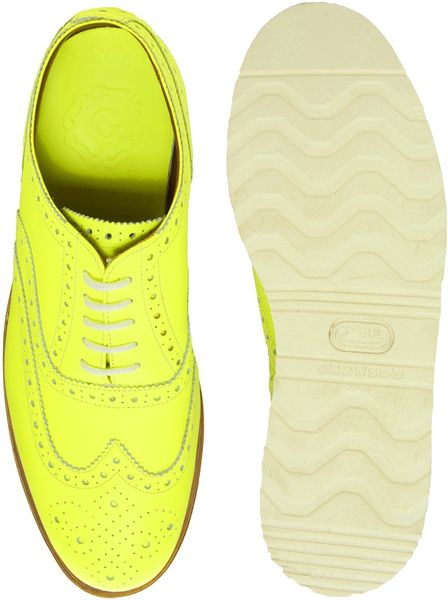 Florsheim Yellow Brogues Wedge Brogues in Yellow