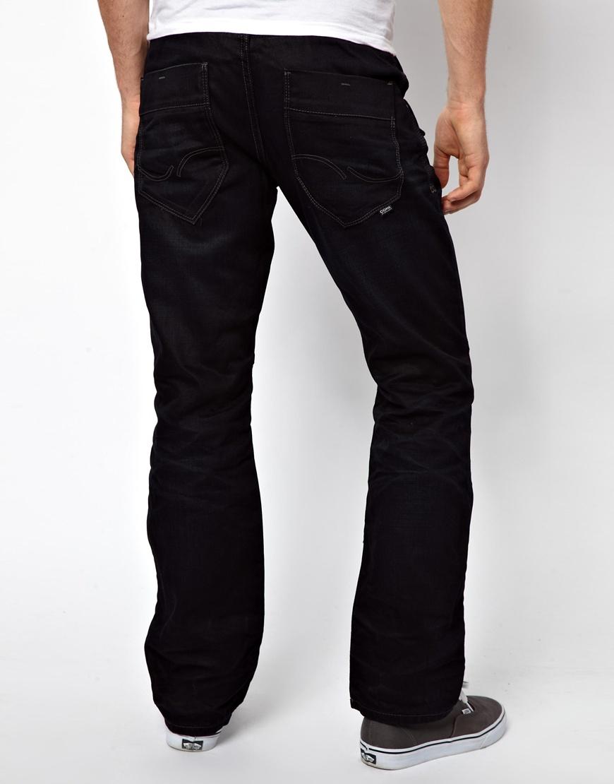 lee jeans jack jones boxy powel loose fit jeans in black. Black Bedroom Furniture Sets. Home Design Ideas