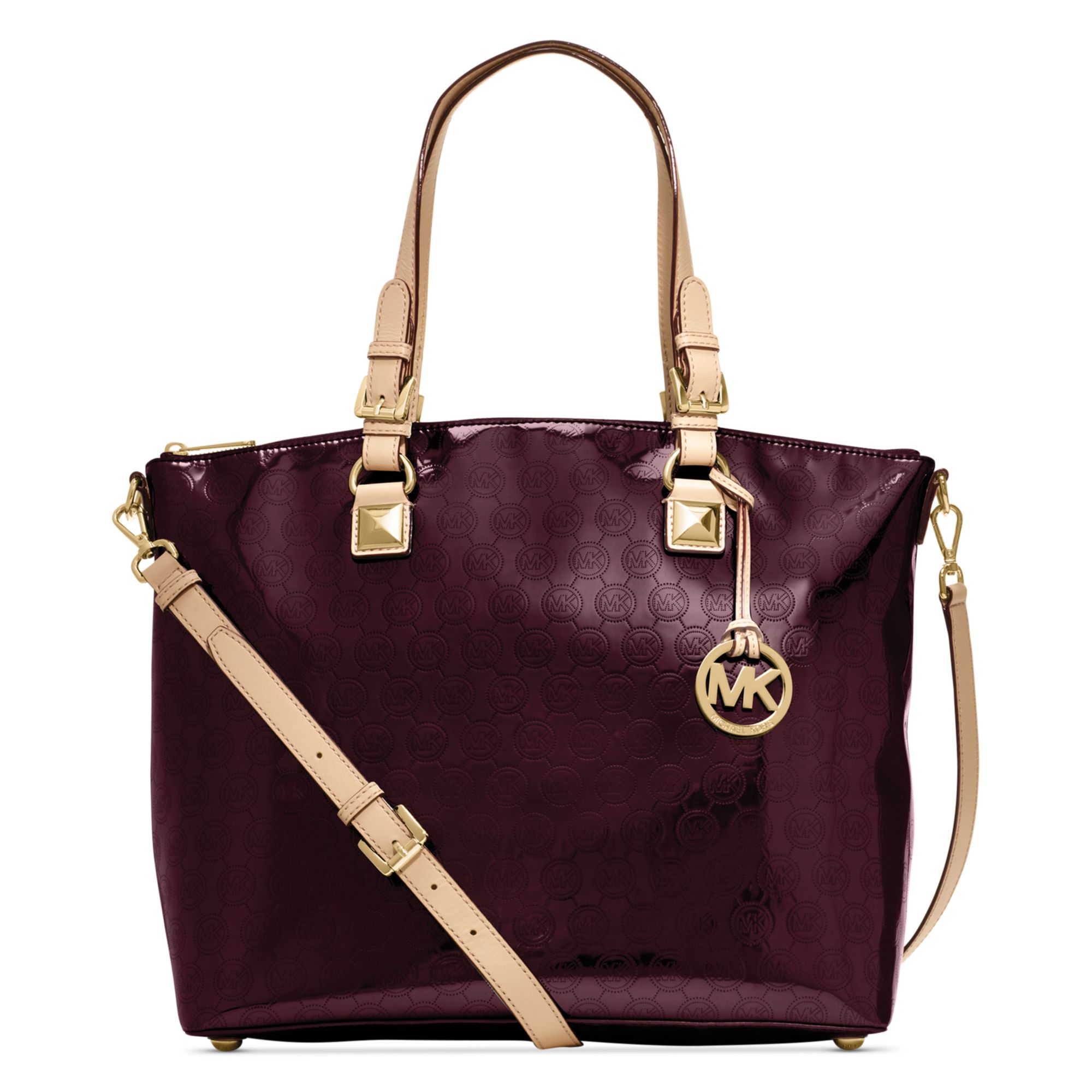 michael kors jet set item multi function satchel in purple lyst. Black Bedroom Furniture Sets. Home Design Ideas