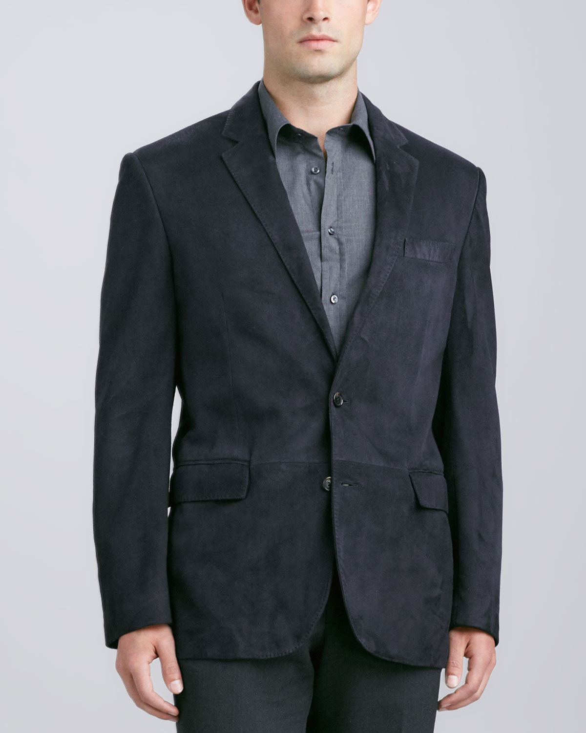 Ralph lauren black label Anthony Suede Sport Coat in Blue for Men ...
