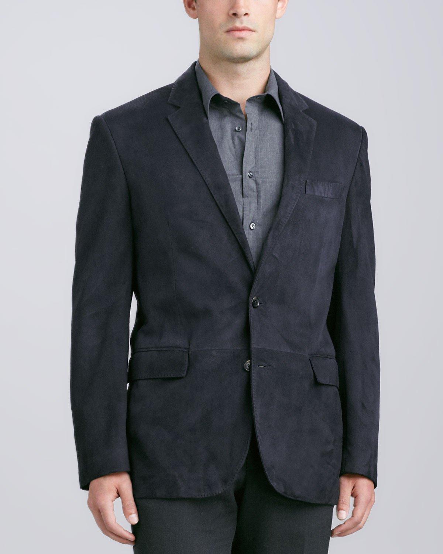 Ralph lauren black label Anthony Suede Sport Coat in Blue for Men