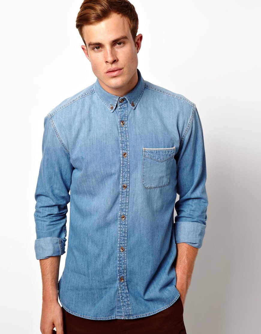 Discount Extremely Denim Shirt - Light blue Selected Wholesale Price Cheap Online Buy Cheap Order Cheap Sale Low Price Fee Shipping Cheap Order RqkxYd