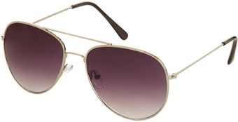 Topshop Alice Metal Aviator Sunglasses - Lyst