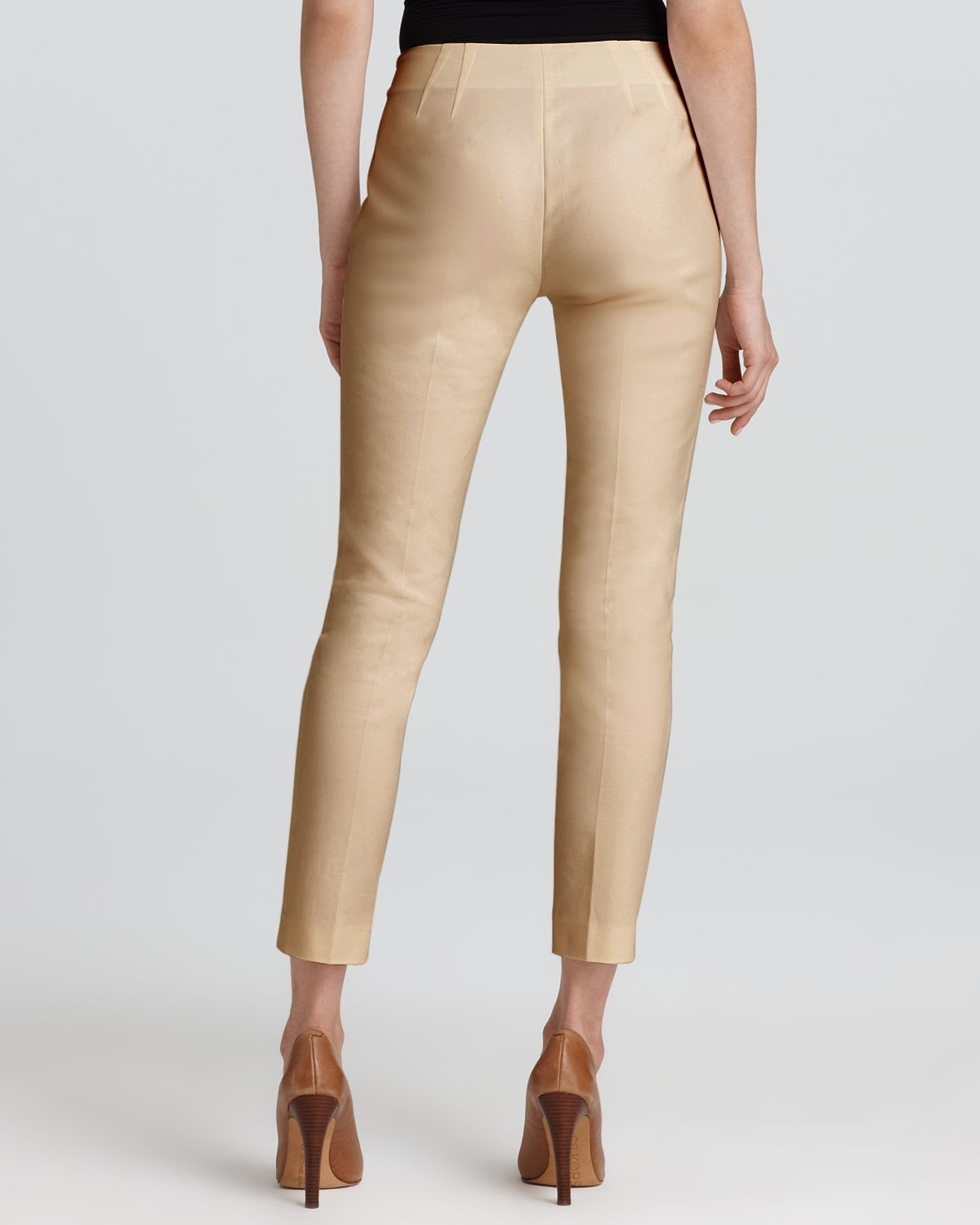 Lyst Vince Camuto Side Zip Pants In Natural