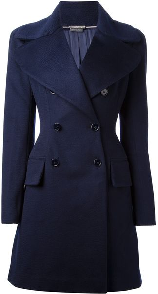 Alexander McQueen Double Breasted Coat - Lyst
