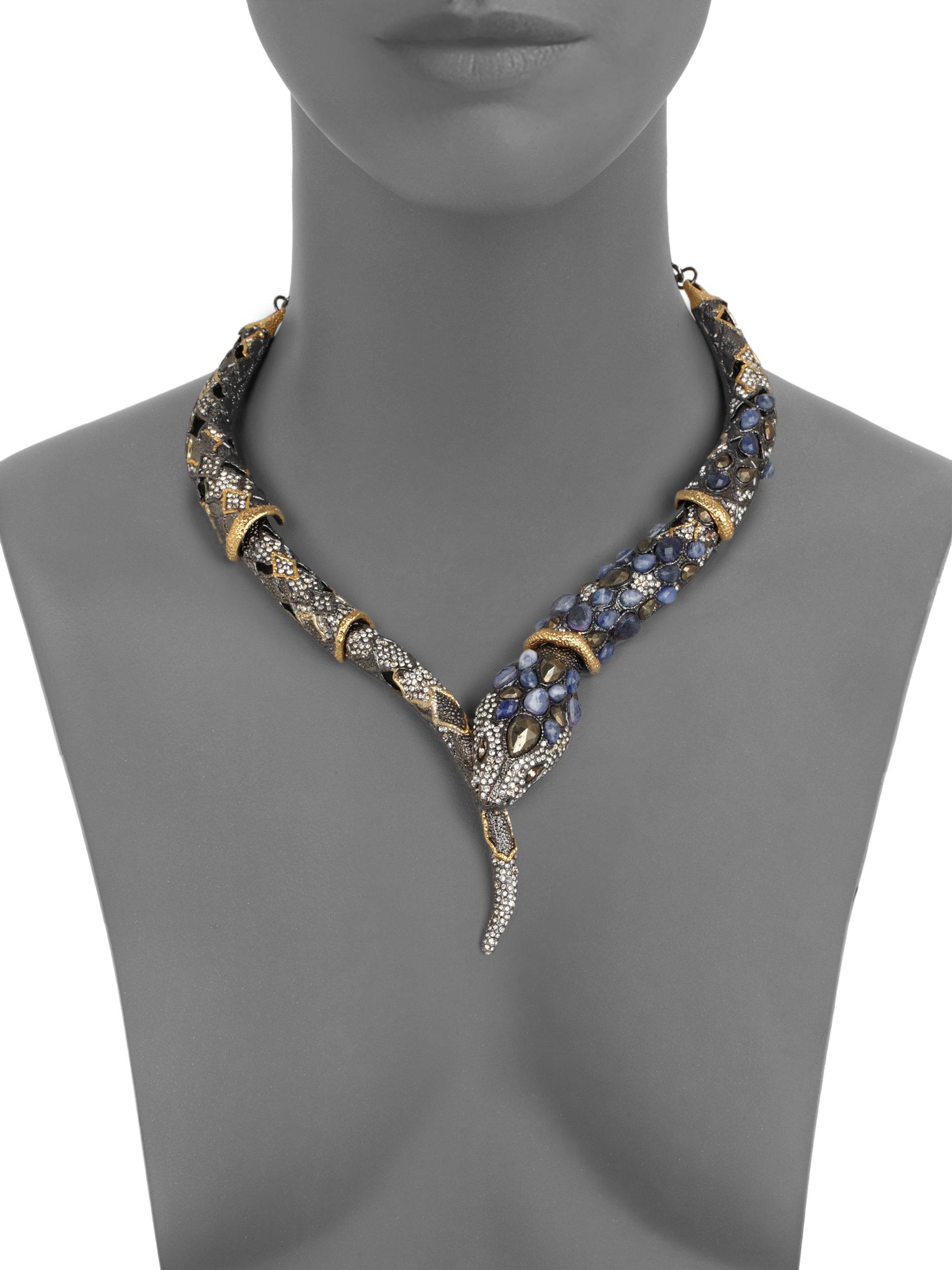 Lyst Alexis Bittar Semiprecious Multistone Snake Necklace