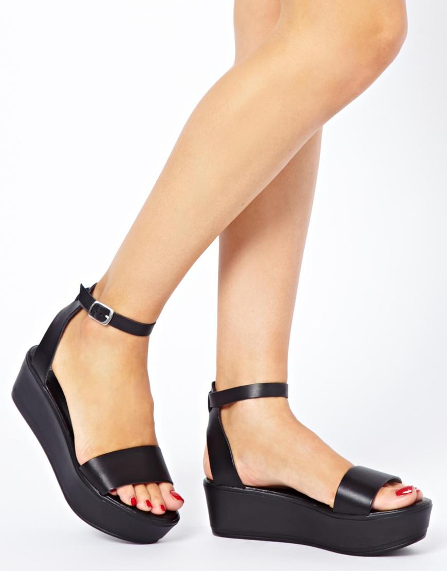 Lyst Asos Asos Jump Flatform Sandals In Black