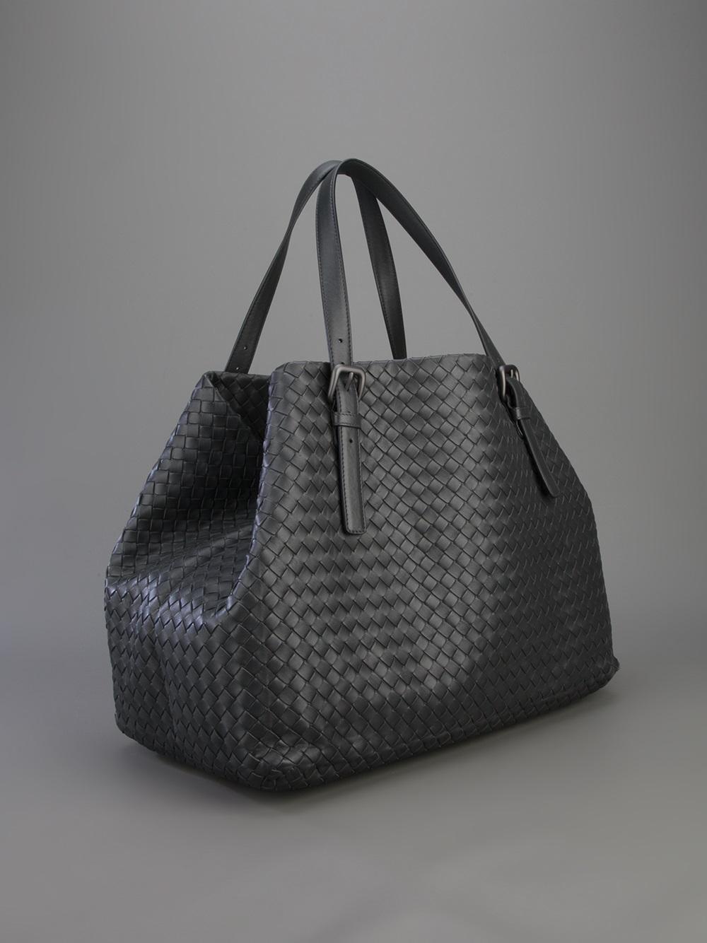 cc34b2ec1004 Bottega Veneta Intrecciato Tote Bag in Gray - Lyst