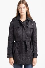 Burberry Brit Finsbridge Belted Quilted Jacket - Lyst