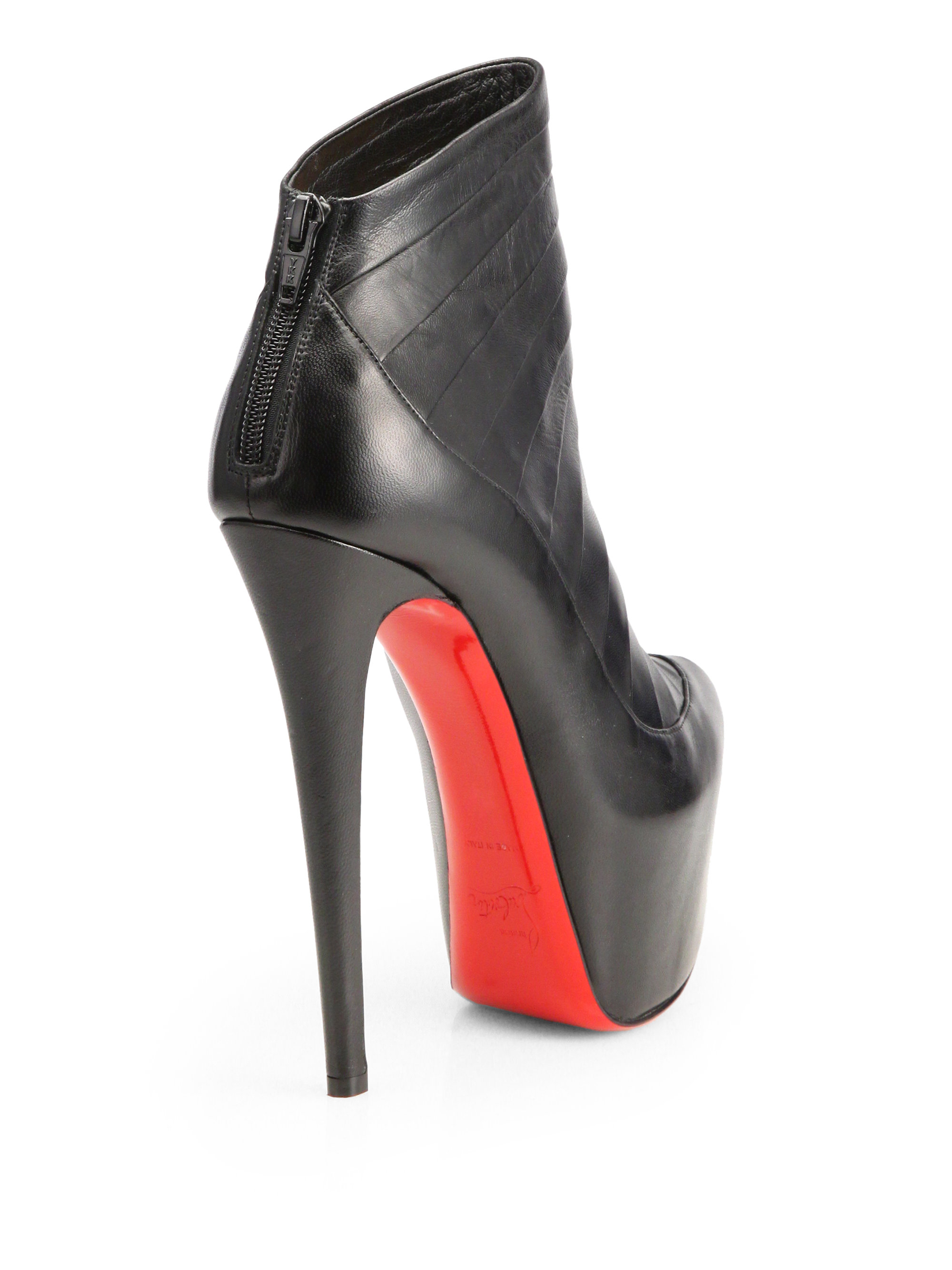 ddcdbf812142 ... amazon lyst christian louboutin amor leather platform ankle boots in  black d0f38 69cc6
