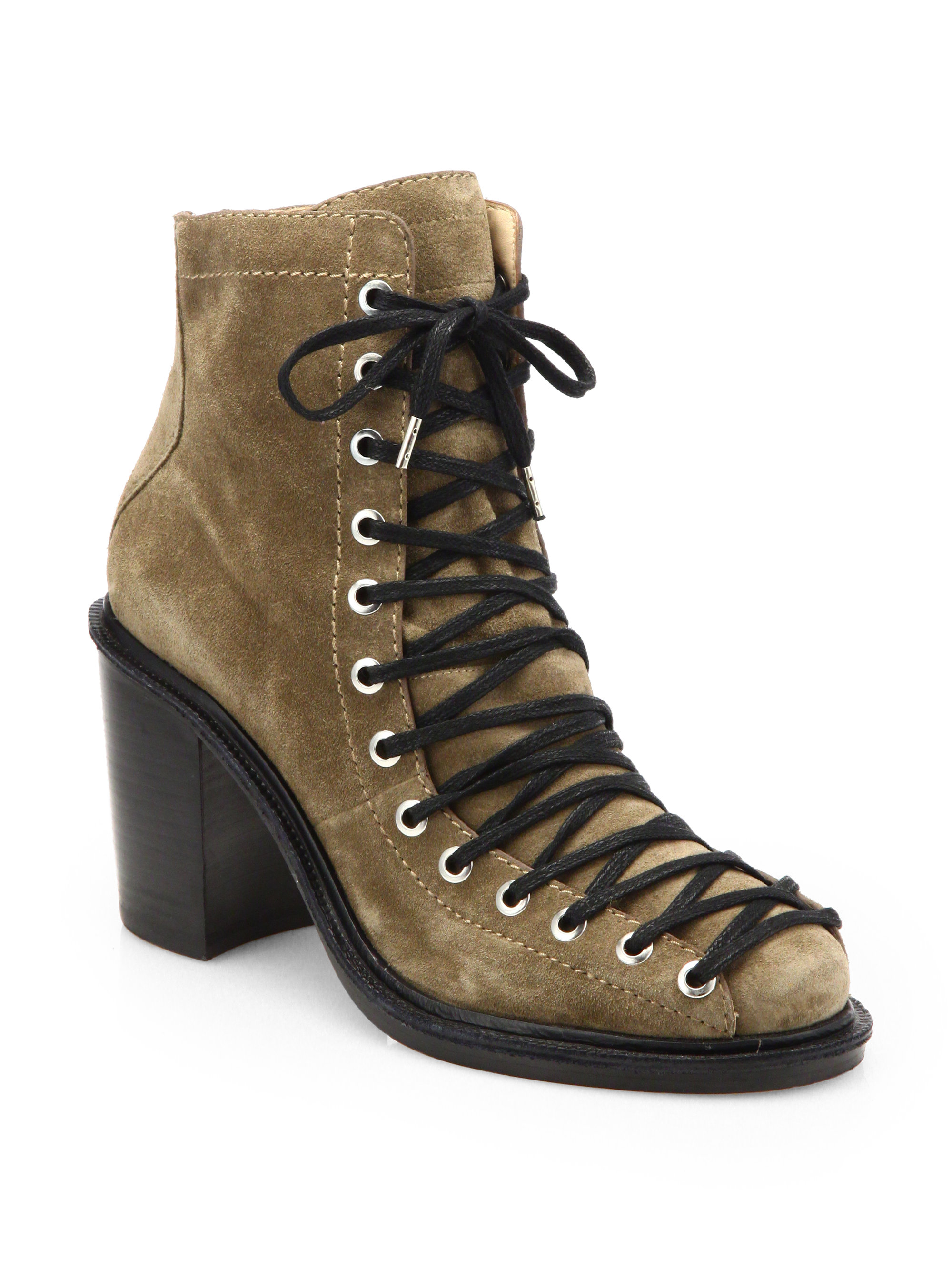 Elizabeth and james Terri Suede Laceup Ankle Boots | Lyst