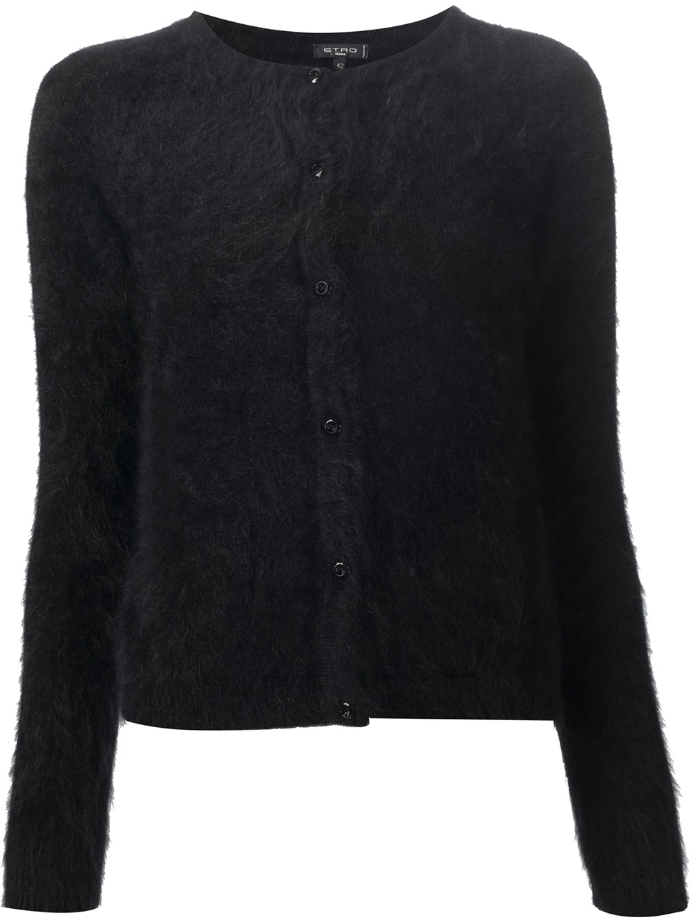Etro Angora Cardigan in Black | Lyst