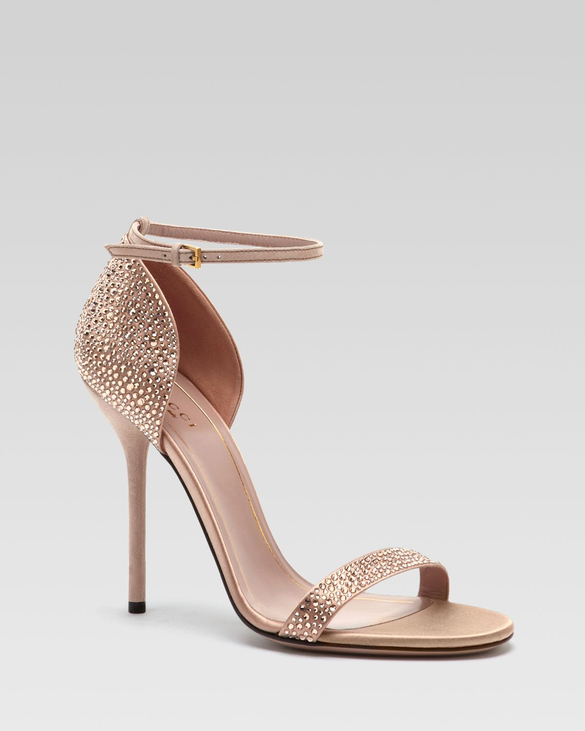 Gucci noah evening sandal in metallic lyst for Gold dress sandals for wedding