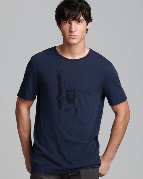John Varvatos Usa Statue Of Liberty Graphic Tee in Blue for Men (Cobalt)