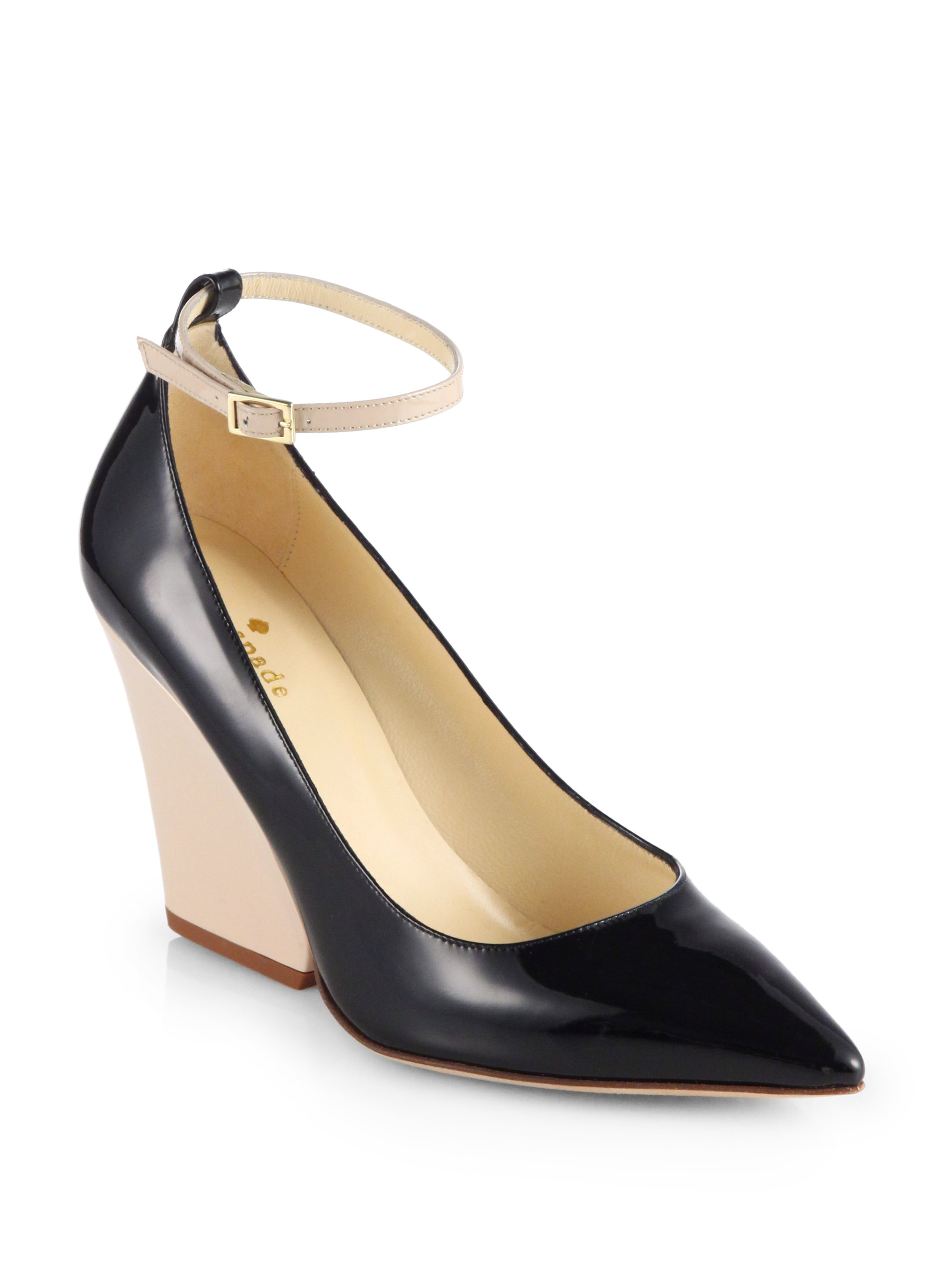 Lyst Kate Spade Prince Patent Leather Ankle Strap Wedge