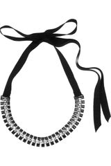 Lanvin Swarovski Crystal Collar Necklace - Lyst