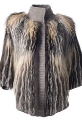 Liska Fox Fur Jacket - Lyst