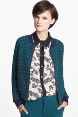 Marc By Marc Jacobs Argyle Bomber Jacket - Lyst