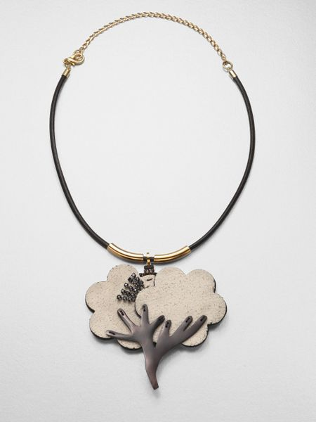 marni tree necklace in gold coal lyst