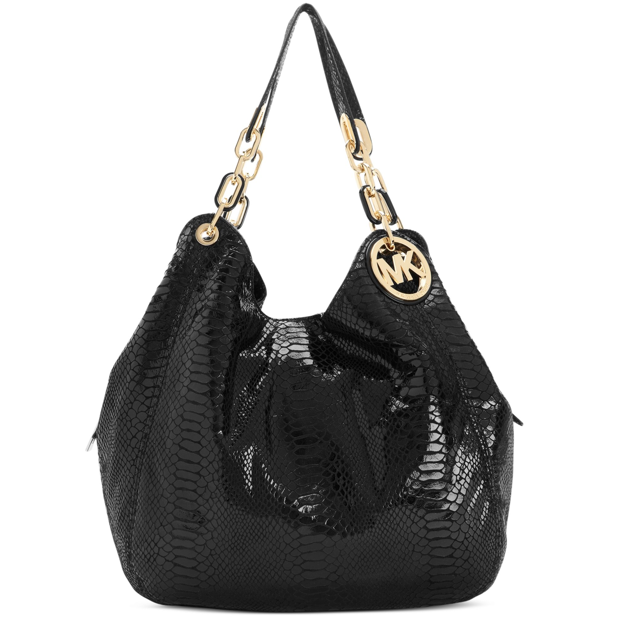 43b172e6beaf ... shopping lyst michael kors fulton large shoulder tote in black 6252e  91748